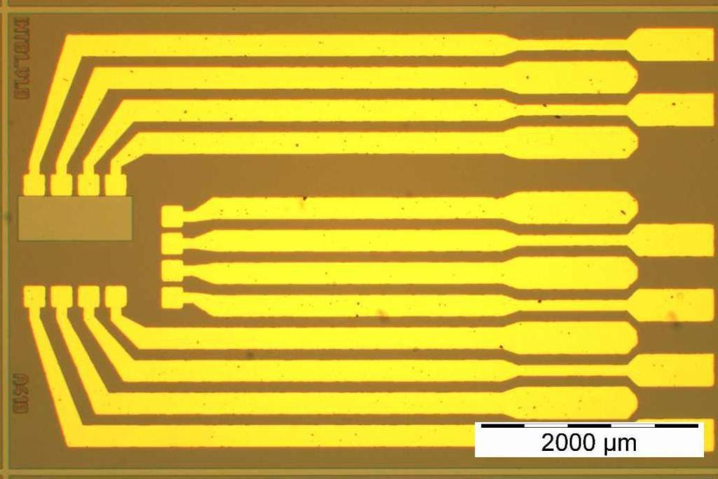Metal electrodes on silicon substrate