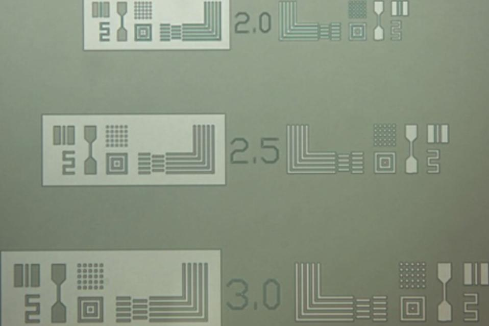 UV lithography on silicon substrate